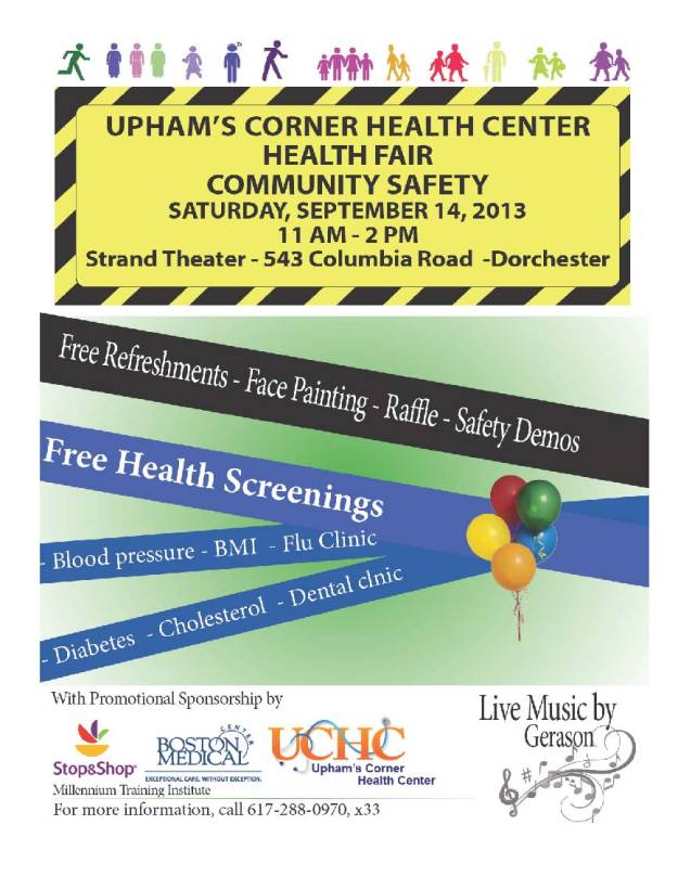 Upham's Corner Health Center - Health Fair!