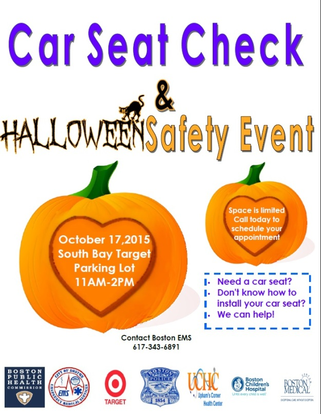 Car seat event flyer