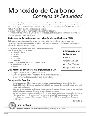 CO safety spanish page 1