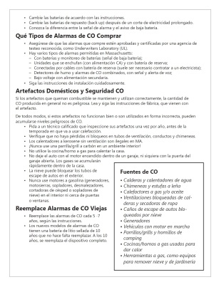 CO safety spanish page 2